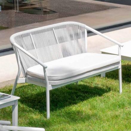 Stapelbares Zweisitzer-Sofa gepolsterter Stoff im Freien - Smart von Varaschin