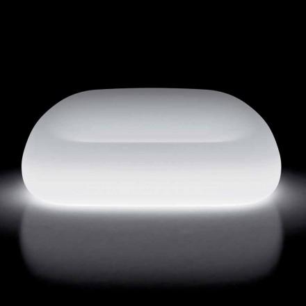 Helles Outdoor-Sofa mit LED-Licht aus Polyethylen Made in Italy - Ervin