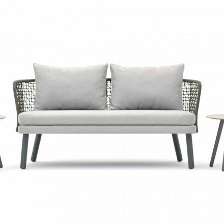 Modernes Gartensofa aus Stoff und Metall Varaschin Emma