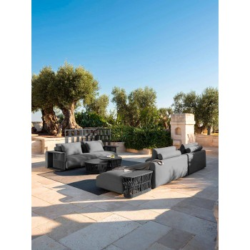 3-Sitzer-Gartensofa aus weißem, beige oder grauem Stoff - Cliff Decò Talenti