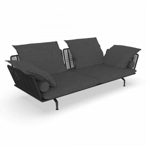 3-Sitzer-Gartensofa aus gepolstertem Stoff und Aluminium - Cruise Alu Talenti