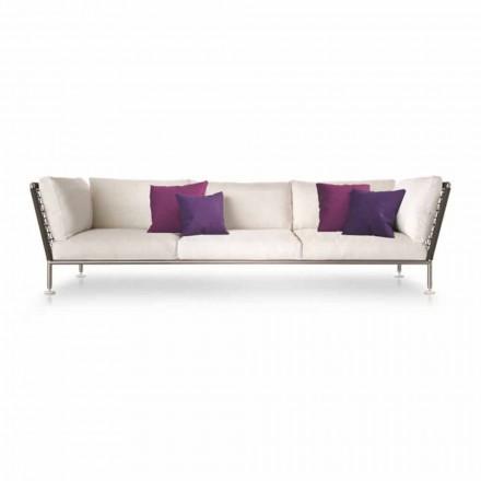 Outdoor-Sofa mit modernem Design aus weißem Stoff Made in Italy - Ontario