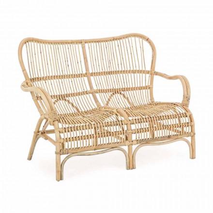 2-Sitzer Outdoor Design Sofa im Garten Rattan - Melizia