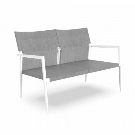 Zweisitzer-Gartensofa aus Aluminium und Textilene - Adam von Talenti