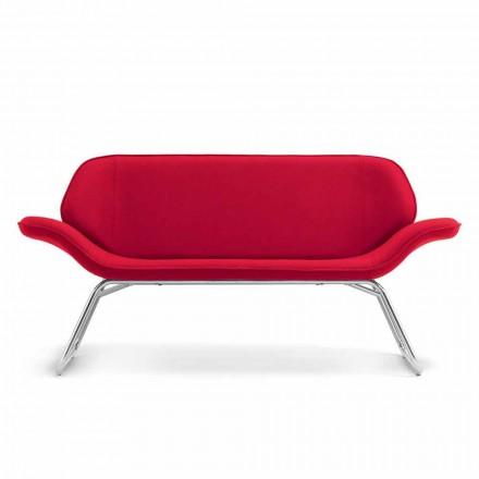 Design Wartzimmer Sofa aus Kunstleder made in Italy Cesare