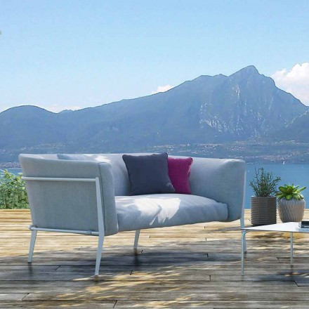 Modernes Outdoor- oder Indoor-Sofa mit abnehmbarem Design Made in Italy - Carmine