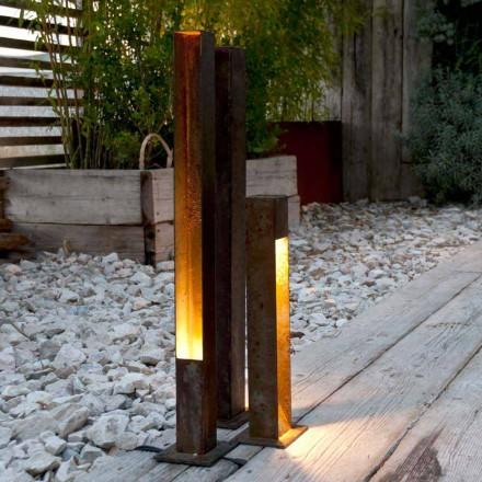Artisan Outdoor Spotlight in Eisen Corten Finish Made in Italy - Sparta