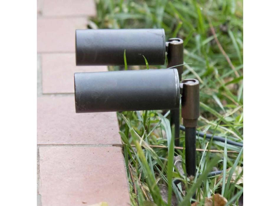 Aluminium-Außenstrahler mit LED und Schutzglas Made in Italy - Forla