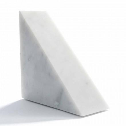 Moderne weiße Carrara Marmor Buchstütze Made in Italy - Tria