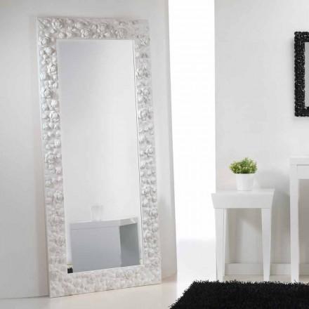 Großer Stand und Wandspiegel mit Spiegelrahmen Flower