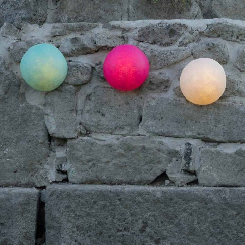 Außenwandleuchte In-es.artdesign Button Out in farbigem Nebulite