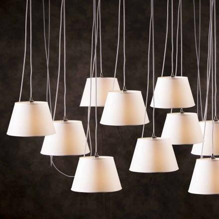 Hängelampe mit 12 Lichtern in modernem Design Chrome