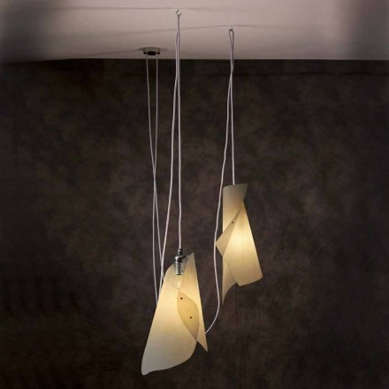 Pendelleuchte mit 2 Leuchten, modernes Design, Chrom