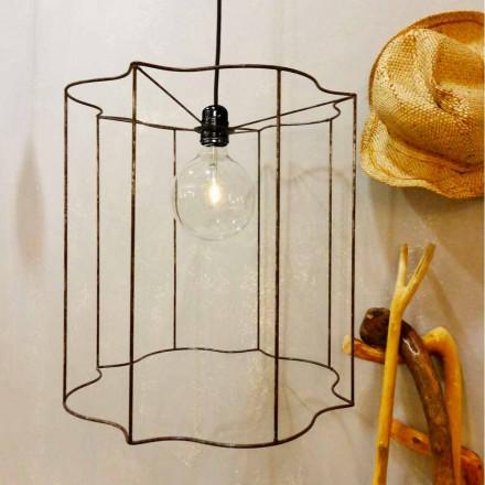 Hängelampe/Stehlampe Käfig in modernem Design Cigno