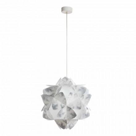 Pendelleuchte im modernen Design in Grau, Durchmesser 46 cm, Kaly
