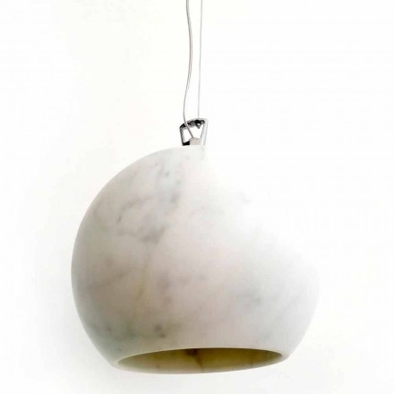 Design Hängelampe aus weißem Carrara-Marmor Made in Italy - Panda