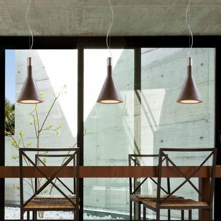 Hängelampe aus Beton Funnel von Aldo Bernardi