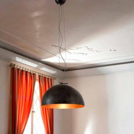 Hängelampe aus Stahl Moonlight klein von Aldo Bernardi