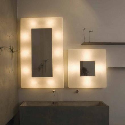Designer Wandleuchte mit Spiegel In-es.artdesign Ego in Nebulite