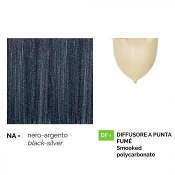 Außenwandleuchte aus Aluminiumdruckguss, hergestellt in Italien, Anusca