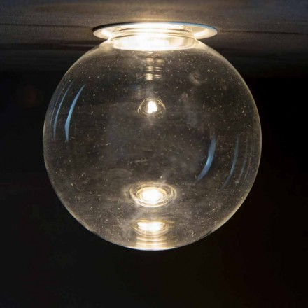 Einbauleuchte aus Aluminium mit dekorativem Glas Made in Italy - Ampolla