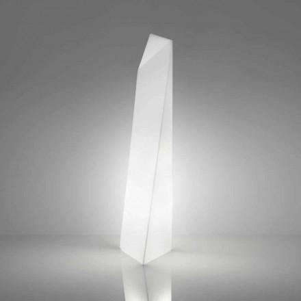 Moderne weiße prismenförmige Stehlampe Slide Manhattan, hergestellt in Italien