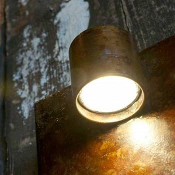 Artisan Wandleuchte in Eisen Corten Finish Made in Italy - Cialda