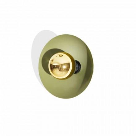 Modernes Design Wandleuchte aus Metall mit Golddekoration Made in Italy - Valta