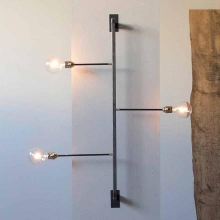 Design Wandleuchte mit schwarzer Eisenstruktur Made in Italy - Anima