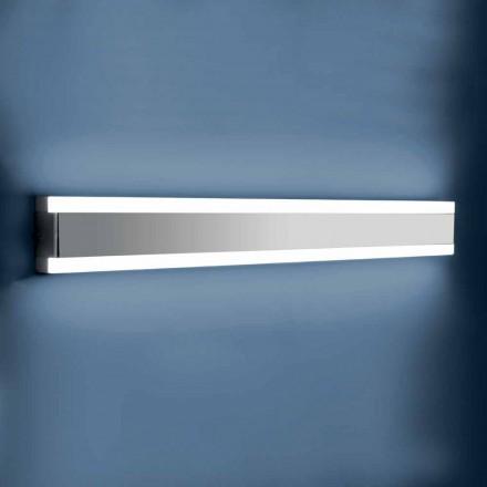 Wandleuchte aus Edelstahl, Plexiglas und Aluminium mit LED-Licht - Magneto