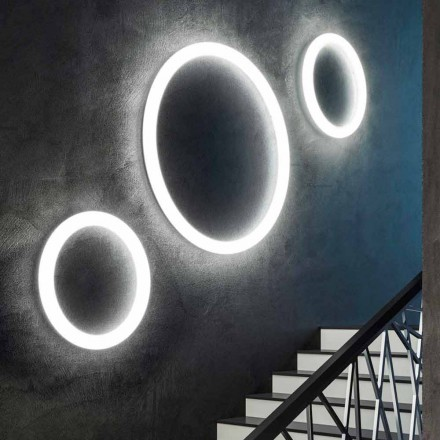 Moderne runde LED-Wandleuchte Made in Italy aus Polyethylen - Slide Giotto