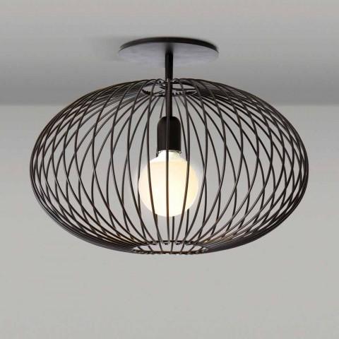 Moderne Deckenlampe aus lackiertem Stahl, Ø48xH 35 cm, Heila