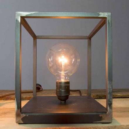 Tischlampe mit handwerklicher Eisenstruktur Made in Italy - Cubola