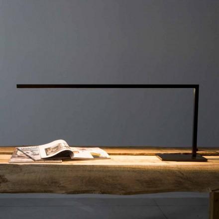 Design Tischleuchte aus mattschwarz lackiertem Eisen Made in Italy - Linea