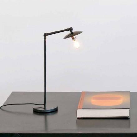 Eisentischlampe mit verstellbarem Licht Made in Italy - Amino