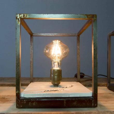 Tischlampe aus Eisen und Keramik handgefertigt in Italien - Floria