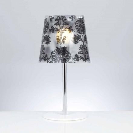 Tischlampe aus Polycarbonat mit Dekorationen, Durchmesser 30 cm, Mara