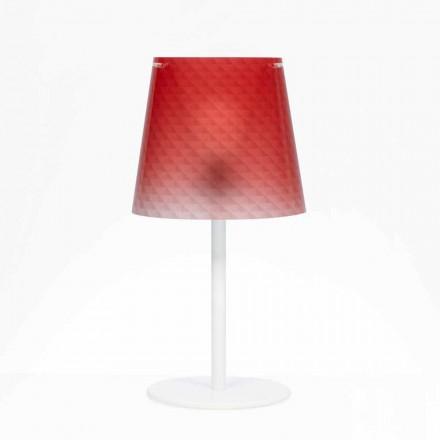 Tischlampe aus Polycarbonat, Diamant Dekoration, Rania diam. 30 cm