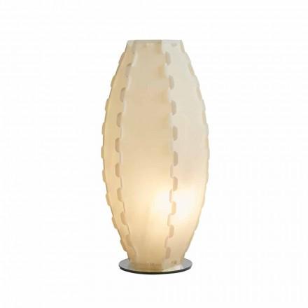 Tischleuchte in Perlmutt Sandylex aus Italien Gisele, diam. 27 cm
