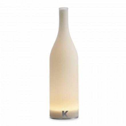 Led Tischlampe in weißem Milchglas Modernes Design - Flasche