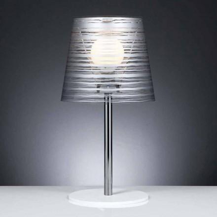 Moderne Tischlampe mit Silberschmuck, Durchmesser 30 cm, Shana