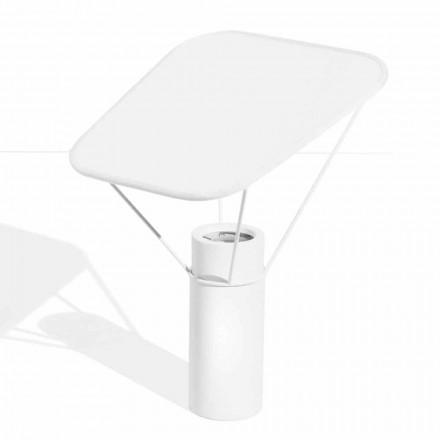 Moderne Tischlampe aus Harz und weißer Baumwolle Made in Italy - Fiera