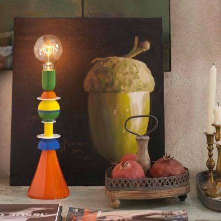 Mehrfarbige Tischlampe aus Aluminium Slide Otello, hergestellt in Italien