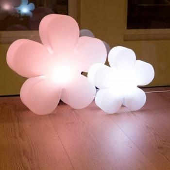 Modernes Design Blumentisch oder Stehlampe aus weißem Kunststoff - Fiorestar