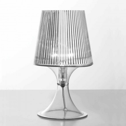 Moderne Tischlampe aus transparentem Polycarbonat Frosinone
