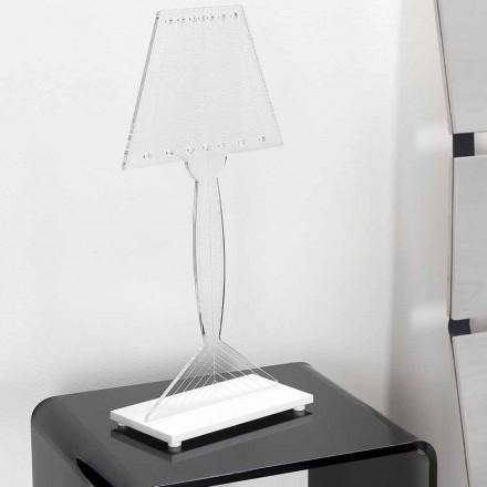 Geformte Tischlampe aus Plexiglas, LED-Licht, Ferla
