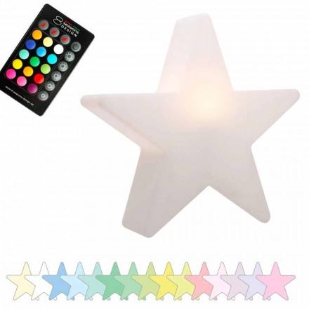 Solar- oder LED-Tischlampe, Star Design aus Polyethylen - Ringostar