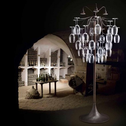 Stehlampe 30 umgekippte Gläser Sauvignon von Aldo Bernardi