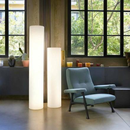 Design helle zylindrische Stehleuchte Slide Fluo, hergestellt in Italien