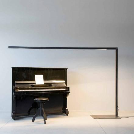 Design Stehleuchte aus schwarzem Eisen mit LED-Leiste Made in Italy - Barra